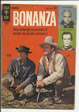 Bonanza #9 - photo cover and photo back cover - Gold Key - GD/VG 3.0