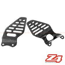 2006 2007 Yamaha R6 Rearset Foot Peg Mount Stand Heel Guard Plates Carbon Fiber
