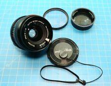 Vivitar 28mm F/2 Auto Wide-Angle Lens for Minolta MD w/ Lens Caps + Hoya Filter