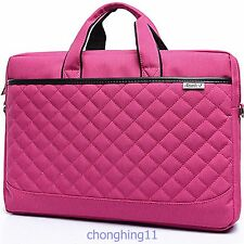 "14"" inch Laptop Notebook case Bag for Lenovo HP Computer bag Briefcase hot pink"