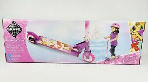 Huffy Disney Princess Folding Scooter, Adjustable Handlebar, Folds Easy Storage