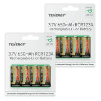Arlo Certified RCR123A Tenergy Rechargeable Batteries for Security Camera 8 Pack