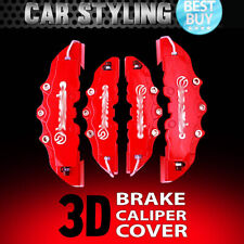 4pcs Red Disc Brake Caliper Covers Kit 3D Styling Front & Rear For Volkswagen