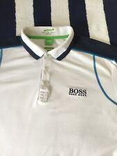 Para Hombre Hugo Boss Green Label 'Paule Pro' Blanco Polo Camisa En Xl