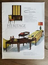 1958 HERITAGE Courier collection dining room living room furniture ad