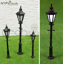 2x LED Lanterna parco Lampada da strada Modellismo 1:87/1:75 Modellino ferrovia