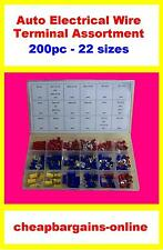 200pc AUTO ELECTRICAL WIRE TERMINAL ASSORTMENT CRIMP KIT CAR TRUCK BOAT REPAIR