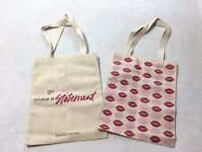 NEW Bareminerals Lot 2 Canvas Tote Bags Lips Go Nude Make A Statement Promo