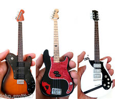 Miniature Guitar Fall Out Boy Set of 3 Joe Trohman, Patrick Stump, Pete Wentz