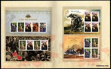 2008 War Minisheets ANZAC Post Office Pack Australia Mint Stamps