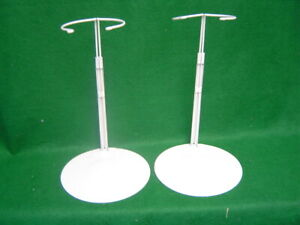 Doll Stands White Metal set of 2 20-30 inch chubby waist Dolls and bears