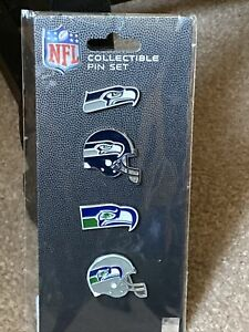 NFL Football Seattle Seahawks Collectible 4 Piece Lapel Pin Set - NEW!