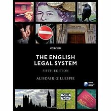 The English Legal System - Alisdair Gillespie 5th edition. MINT