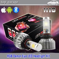 H10 9145 9140 LED Fog Light + RGB Demon Eye APP Control for Ford F-150 1999-2017