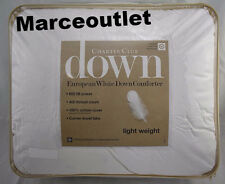 Charter Club Light Weight FULL / QUEEN European White Down Comforter