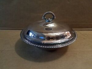 WM Rogers 862 Silverplate Round Serving Bowl Casserole With Lid VINTAGE
