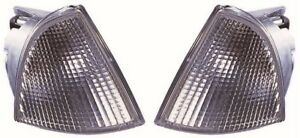 For Peugeot Expert Mk1 Van 1995-2003 Clear Front Indicator Lights Pair OS NS