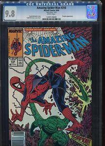 Amazing Spiderman #318 CGC 9.8  Mark Jewellers Insert Newsstand UPC Variant