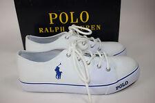 Nib Polo Ralph Lauren 6.5 Junior Boys White Canvas/Rubber Crofton Tennis Shoe