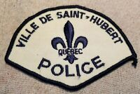 Ca Ville De Saint-Hubert Quebec Canada Police Patch