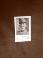 WW1 Prima guerra mondiale 1914-1918 Caduto U. Linati di Modena Tenente