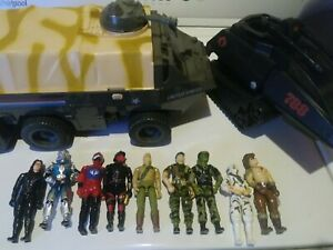 Small 1980s G.I.Joe Action Figure & Vehicle  Lot/Collection, 9 figures Baroness+