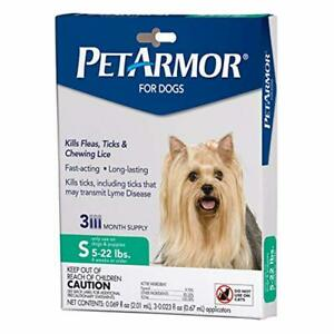PetArmor for Dogs, Flea and Tick Treatment for Dogs, Includes 3 Month Supply of