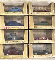 Brumm Vintage Model Cars X8 Jaguar, Ferrari, Lancia, Berlina,Maserati, Belvedere