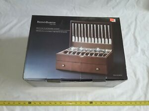 Reed and Barton mocha flatware chest. new! holds up to 120 pieces.