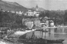 ITALY. Gulf of La Spezia. Fezzano  1880 old antique vintage print picture