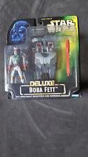 Star Wars Deluxe Boba Fett with Wing-Blast Rocketpack - 1996 - NEU