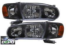 01-02 Toyota Corolla BLACK Head Lights OE Style + Corners DEPO