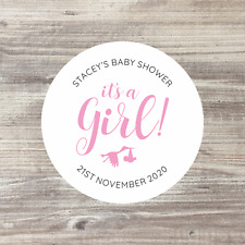 35 x Personalised Stickers, Baby Shower Stickers, Baby Shower Favours, 37mm
