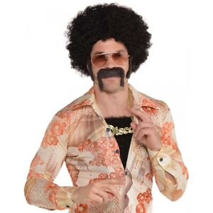 Disco Costume Kit Adult Mens 70s Wig Chest Hair Mustache and Sideburns