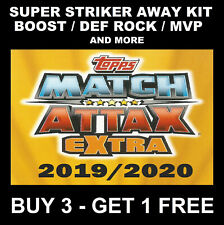 MATCH ATTAX EXTRA 2019/20 SUPER BOOST AWAY KIT STRIKERS MVP CLUB HERO 19/20