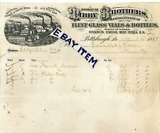 1887 Pittsburgh Pennsylvania TIBBY BROTHERS Guyasuta FLINT GLASS VILES & BOTTLES