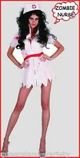 ZOMBIE NURSE COSTUME Halloween Psycho Horror Fancy Dress Women Teens 1 sz 10-14