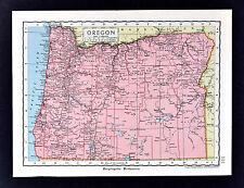 c 1925 Encyclopedia Britannica Map - Oregon  Salem Portland Eugene Klamath Falls