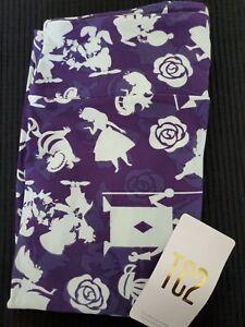 LuLaRoe TC2 Disney Alice in Wonderland Purple Leggings- New!