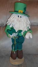 "St. Patricks Day 20"" Tall Leprechaun Pal on Wooden Base - Fun!"
