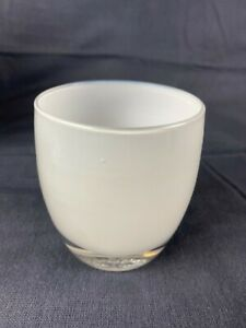 Glassybaby White Hope Hand Blown Glass Votive Candle Holder Opaque