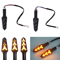 2Pcs Motorcycle LED turn signal lamp sequential flowing indicator light amber NT