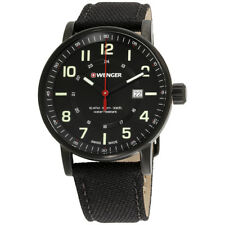 Wenger Attitude Outdoor Black Dial Nylon Strap Men's Watch 010341111