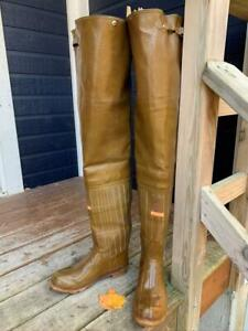 CONVERSE ROD & REEL MADE IN USA vintage rubber hip boots waders size 9 US