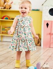 BNWT Mini Boden Girls Cord Tiered Pinafore dress 18-24 months NEW Woodland