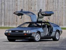 "026 DeLorean DMC 12 - 1981 Super Race Car Class Time Machine 32""x24"" Poster"