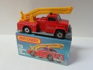 Matchbox Superfast 13c Snorkel Fire Engine - Mint/Boxed