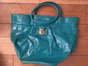 Marc Jacobs Turquoise Patent Leather Bag