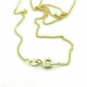 """18k 18ct yellow gold curb chain 16'' 18'' 20"""" diamond cut necklace"""