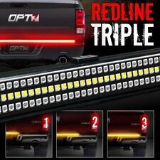 """OPT7 60"""" Redline Triple LED Tailgate Light Bar Dodge Ram Ford f150 Chevy GMC"""